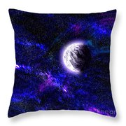 Abstract Stars Nebula Throw Pillow