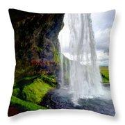 Acrylic Landscape Throw Pillow