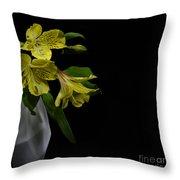 Alstroemeria Flower Throw Pillow