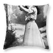 Annie Oakley (1860-1926) Throw Pillow by Granger