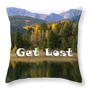Autumn Aspen At Crystal Creek Reservoir Pikes Peak Throw Pillow