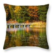 Autumn Season In Killarney Throw Pillow