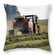 Baling Hay Throw Pillow
