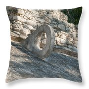 Ball Court At The Coba Ruins  Throw Pillow