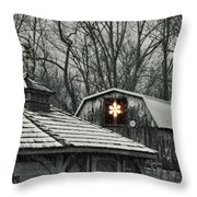 Barn Star Throw Pillow