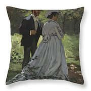 Bazille And Camille Throw Pillow