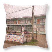 Belize Ywca Building Throw Pillow