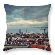 Berlin Skyline Throw Pillow