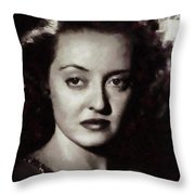 Bette Davis Vintage Hollywood Actress Throw Pillow