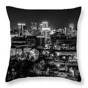 Birmingham Alabama Evening Skyline Throw Pillow