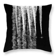 5 Blue Angels Black White  Throw Pillow