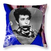 Bob Dylan Art Throw Pillow