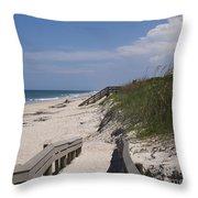 Brevard County Florida Beaches Throw Pillow