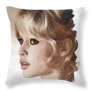 Brigitte Bardot, Actress Throw Pillow