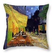 Cafe Terrace At Night Throw Pillow