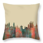 Cambridge England Skyline Throw Pillow