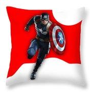 Captain America Collection Throw Pillow
