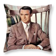 Cary Grant, Vintage Actor Throw Pillow