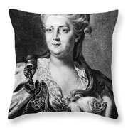Catherine II (1729-1796) Throw Pillow