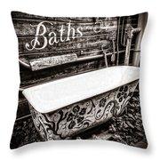 5 Cent Bath Throw Pillow