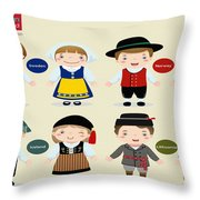 Children Of The Word Throw Pillow