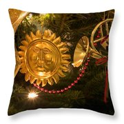 Christmas Tree Decorations Throw Pillow