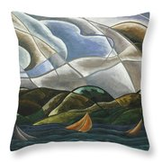 Clouds And Water Throw Pillow
