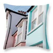 Colorful Houses Throw Pillow