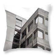 Concrete Building Throw Pillow