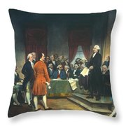 Constitutional Convention Throw Pillow by Granger