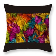 Daisy Petals Abstracts Throw Pillow