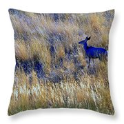 Deer Outdoors. Throw Pillow