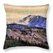 Denali Park - Alaska Throw Pillow
