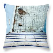 Derelict Swimming Pool Throw Pillow