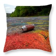 Discarded Spray Paint Can Throw Pillow