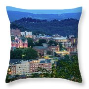 Downtown Morgantown And West Virginia University Throw Pillow