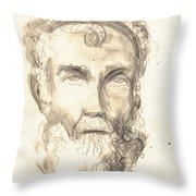 Drawing Of Ancient Sculpture Throw Pillow
