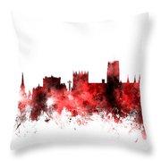 Durham England Skyline Cityscape Throw Pillow