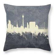 Dusseldorf Germany Skyline Throw Pillow