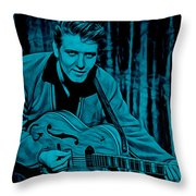 Eddie Cochran Collection Throw Pillow