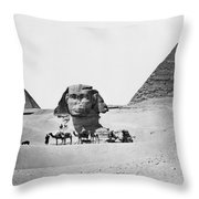 Egypt: Great Sphinx Throw Pillow
