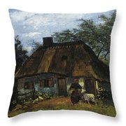 Farmhouse In Nuenen Throw Pillow