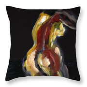 Fat Nude Woman  Throw Pillow
