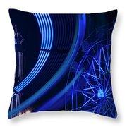 Ferris Wheel In Motion Throw Pillow