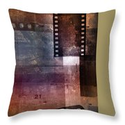 Film Strips 3 Throw Pillow