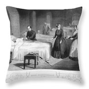 Florence Nightingale Throw Pillow