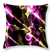 Fractal Modern Art Seamless Generated Texture Throw Pillow