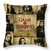 Game Of Thrones. House Stark. Throw Pillow