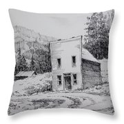 Garnet Ghost Town Montana Throw Pillow