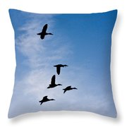 5 Geese Throw Pillow